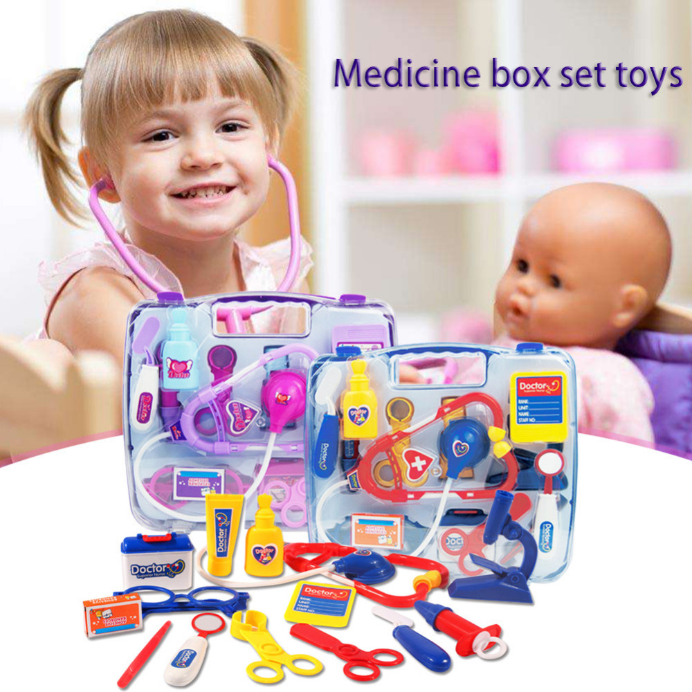 Children Play House Puzzle Medicine Box Nurse Doctor Stethoscope Medical Set Educational Play Toy
