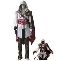 Hight Calidad Del Traje de Halloween Cosplay Assassins Creed de Assassin Creed II Ezio Traje Sistemas de la Ropa para Adultos de Disfraces