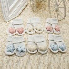 High Quality Newborn Infant Baby Girls Soft Socks Cute White Star Love Pattern Kids Princess Socks 0-1Y M1
