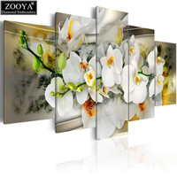 Zhui Star Full Square Drill Diamond Embroidery Orchid Flower 5D DIY Diamond Painting Cross Stitch Multi