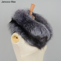 Winter Thick Warm Real Silver Fox Scarf Top Quality Big Fur Women's Luxury Collar S7171