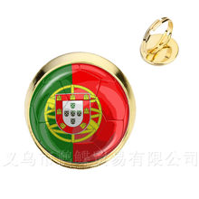 Switzerland,Sweden,Japan,Portugal,Nigeria Football National Flag Logo 16mm Glass Dome AdjustableRings For Funs Gift(China)