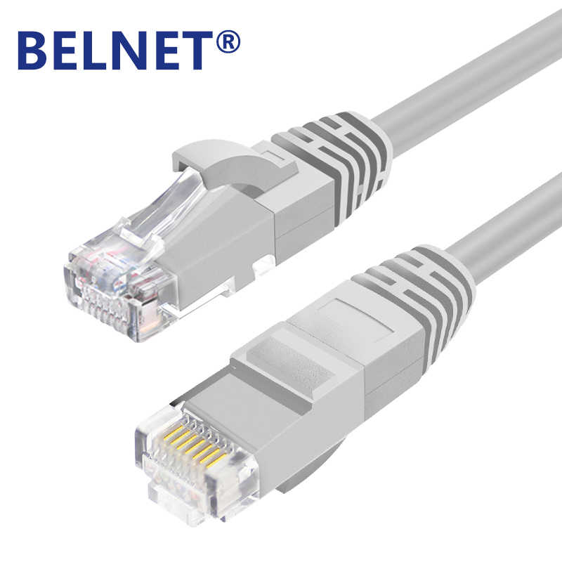 Cable Length: 2m, Color: Grey ShineBear BELNET RJ45 Cat5e Ethernet Cable UTP Network LAN Cable Cat 5 RJ45 Patch Cord 1m 2m 3m 5m 10m 20m for PS Computer Router Cable
