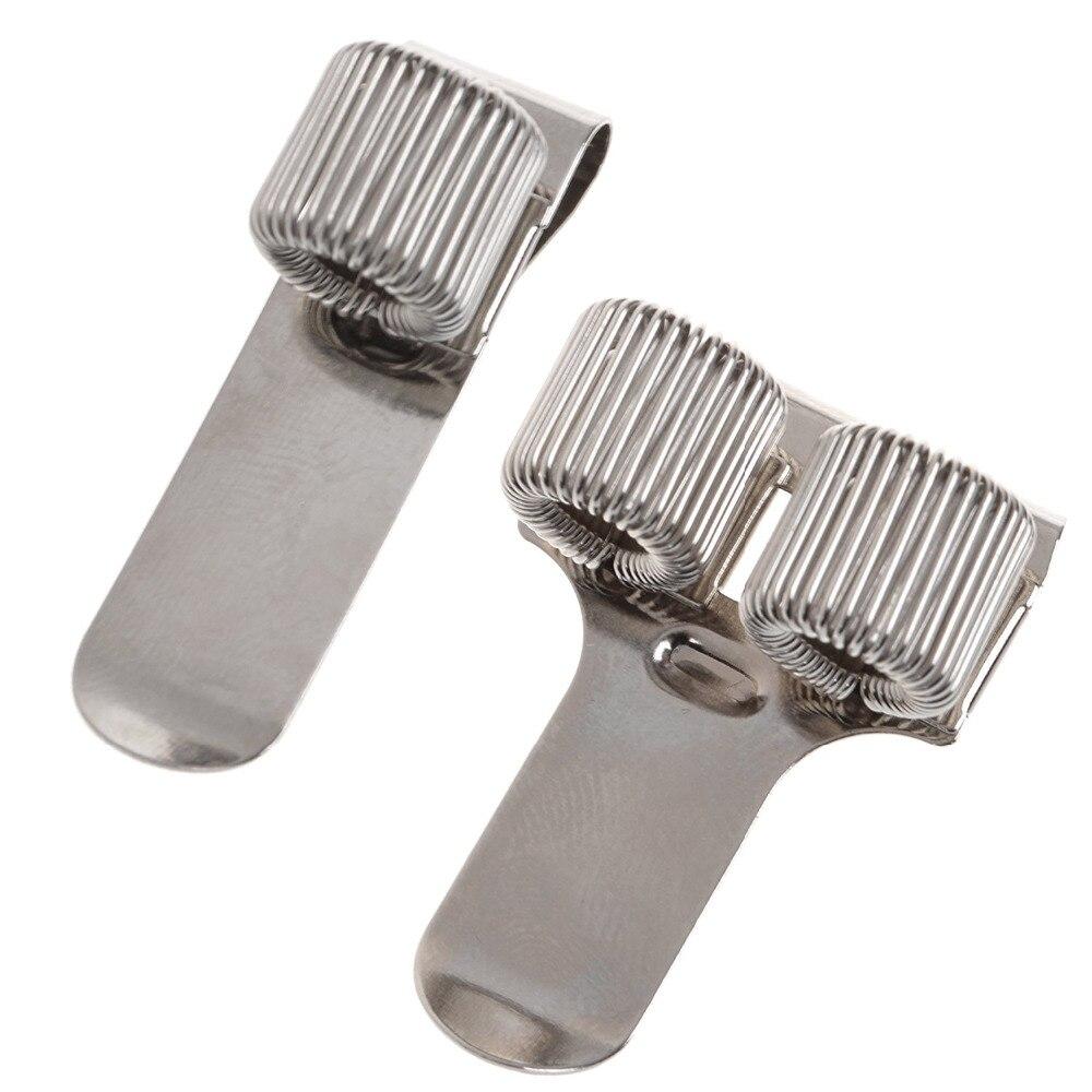 1 + 2 Loch Stifthalter Clip Set Mit Feder Für Notebook Und Zwischenablage, Passend Für Fast Alle Pen Größe Modische Muster