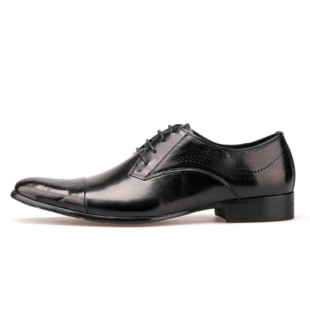 Véritable Pointu Robe Qualité Affaires Noir Lacets Britannique À Chaussures Cuir Style Richelieu Hommes Haute Mode De En Bout n6WxqUzIg