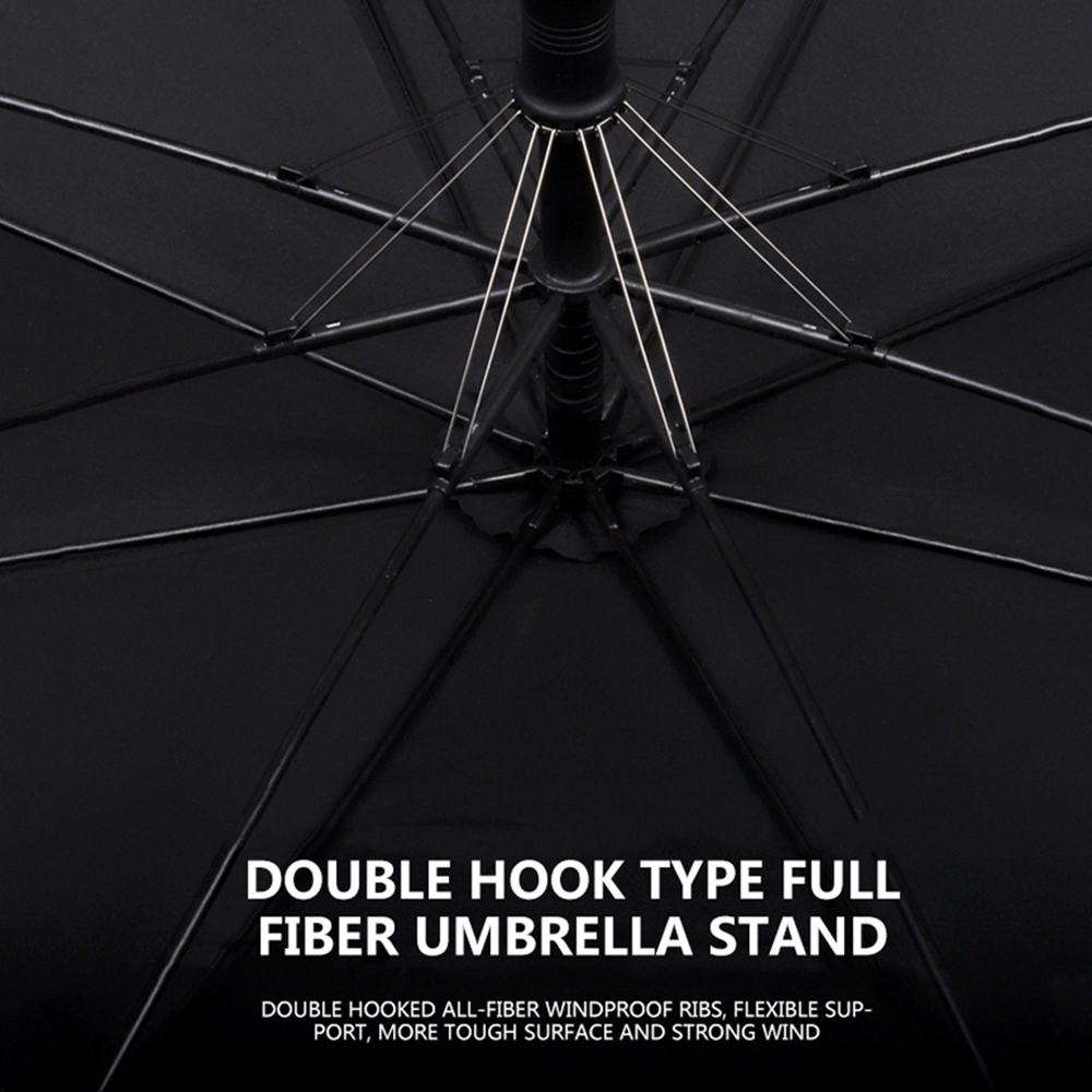 Image 4 - Parachase Large Long Umbrella Rain Men Women Wooden Handle Double