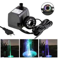 Mini Submersible Water Pump with LED Light for Aquariums KOI Fish Pond Underwater Fountain Waterfall Water Pumps Lighting Decor(China)