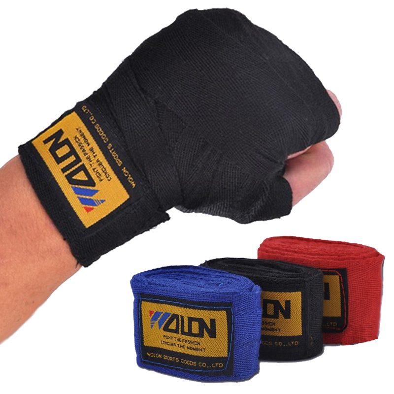 2pcs/roll Width 5cm Length 2.5M Cotton Sports Strap Boxing Bandage Sanda Muay Thai MMA Taekwondo Hand Gloves Wraps Boxeo authentic rdx inner hand wraps gloves boxing fist padded bandages mma gel thai