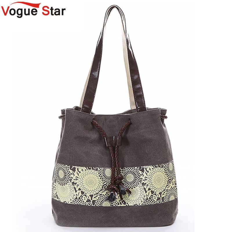 Vogue Star 2017 canvas bag shoulder bags high quality purse women handbag bucket