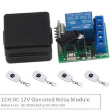 Wireless Remote Control Switch DC 12V Operated 1CH rf 433Mhz Relay Receiver & 500m Transmitter for Remote Garden and Led Switch nice uting ce fcc industrial wireless radio double speed f21 4d remote control 1 transmitter 1 receiver for crane
