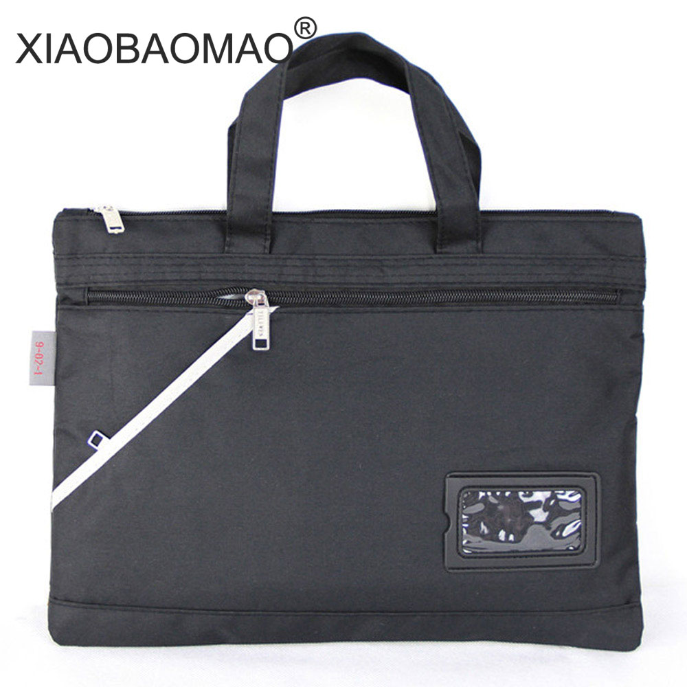 XIAOBAOMAO Classic Business A4 Zipper File Bags Double + Zipper Pocket Document, Papers Bag With Card Position Size=36cm X 26cm