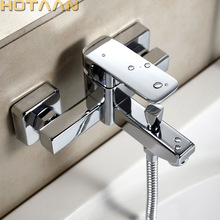 Faucet Shower-Tap Bathtub Wall-Mounted Mixer Waterfall Handheld YT-5326 Polished Chrome-Finish