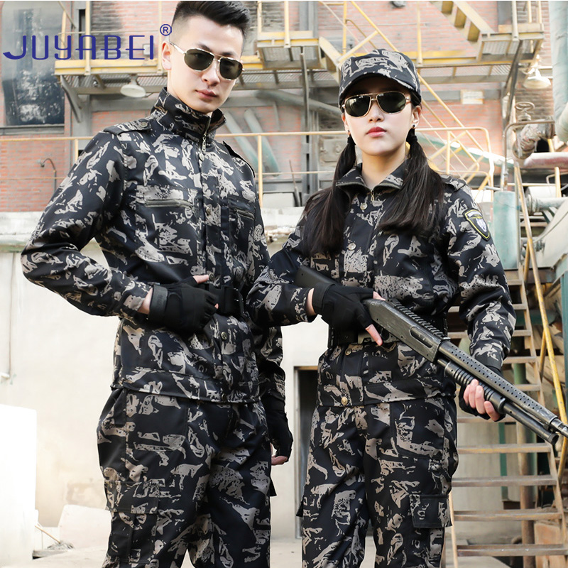 Tactical Camouflage Suit Men's Uniform Shirt + Sports Pants Special Forces Training Clothes Ladies Outdoor Field Training Suit