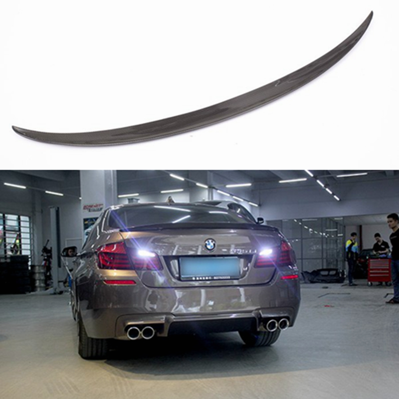 P Style For BMW F10 Spoiler Performance 2010 - UP 5 Series Sedan F10 Carbon Spoiler F10 M5 Rear Trunk Wings Spoiler Carbon Fiber спойлер bmw f10 5 2010