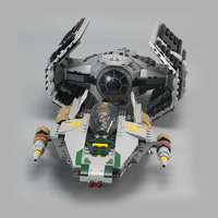 LEPIN 05030 Star Series 722Pcs Vader Set Tie Advanced VS A Toys Wing Star Fighter Building