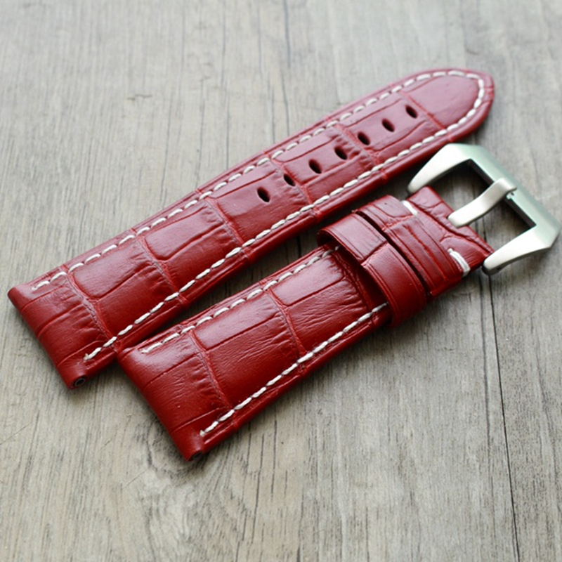 2019 Fashion Red Watch band 20mm 22mm 24mm 26mm For FOSSIL L