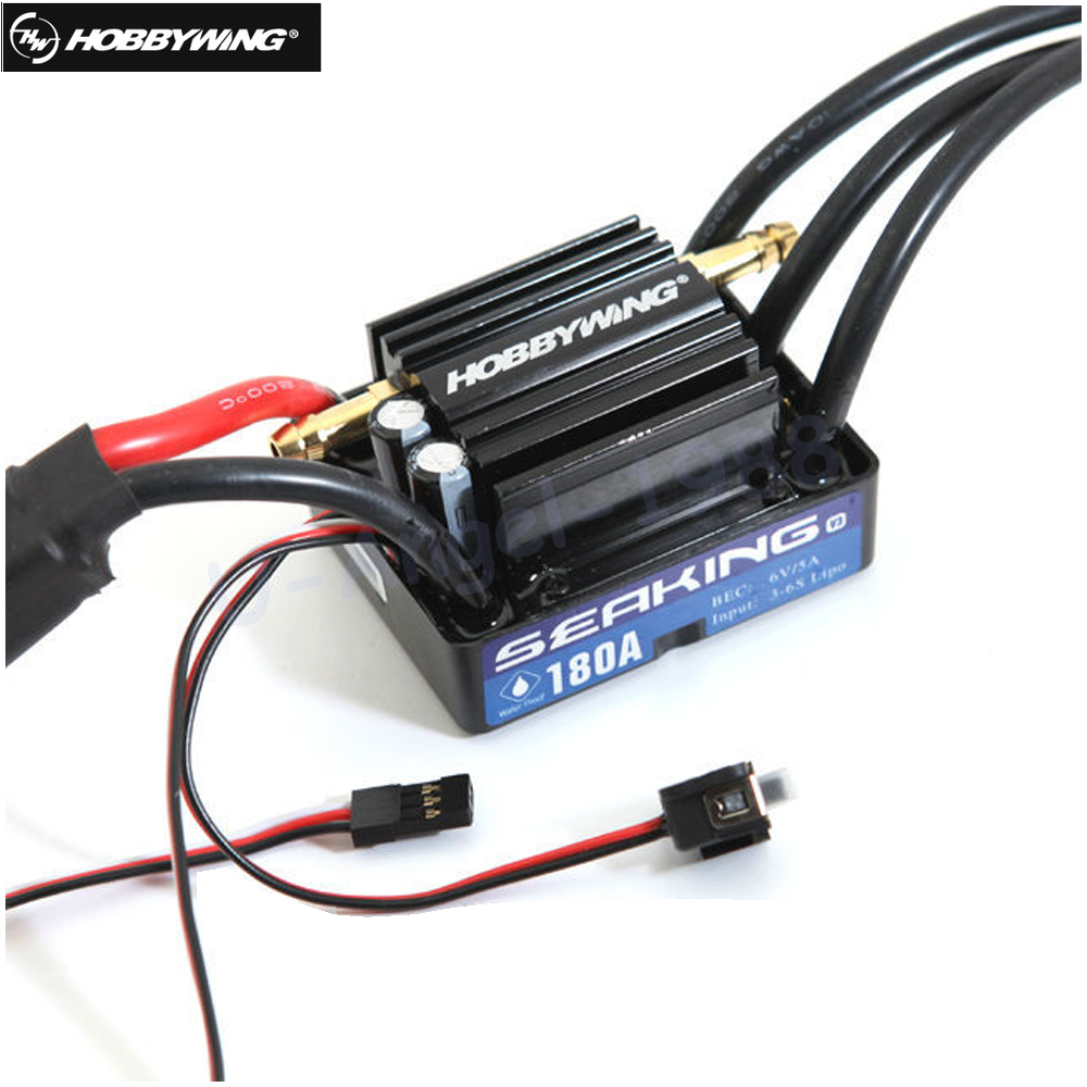1Pcs Original HobbyWing SeaKing V3 180A BL Motor ESC 6V 5A BEC for RC R c