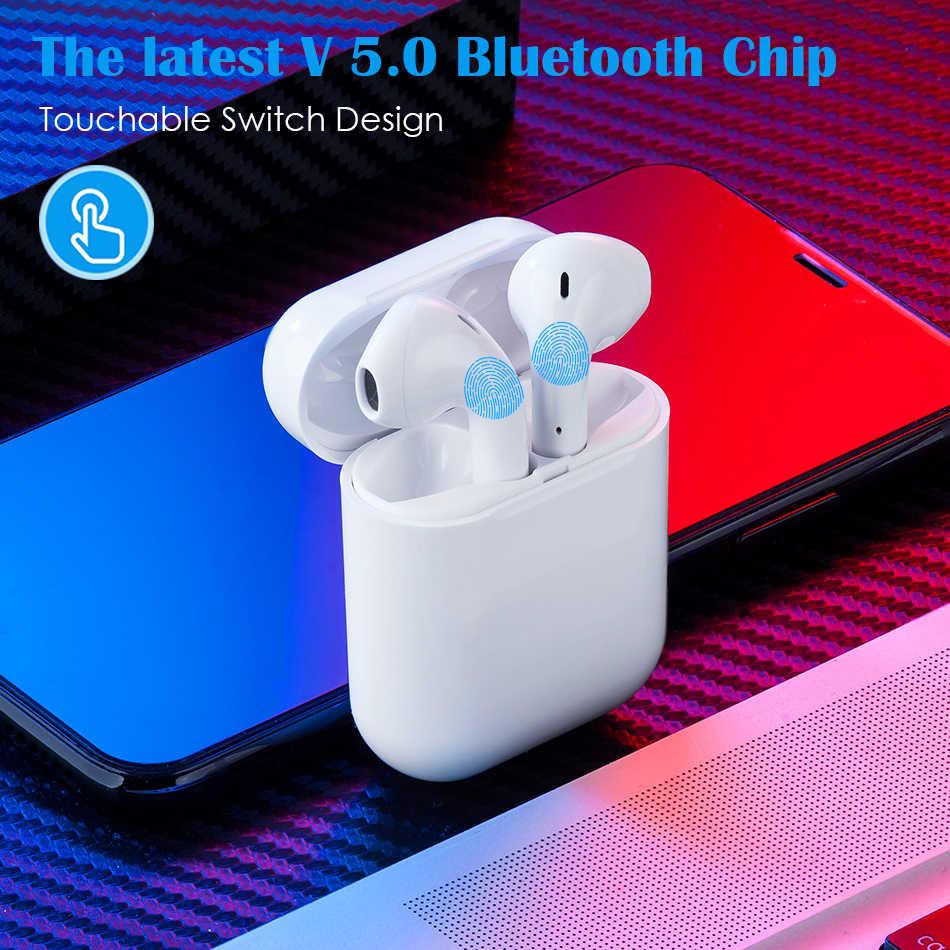 W ucho 5.0 Bluetooth słuchawki POP-Up bezprzewodowy/a słuchawki zestaw słuchawkowy dla aktywnych słuchawki douszne z dwa mikrofony dla wszystkich inteligentnych telefonów