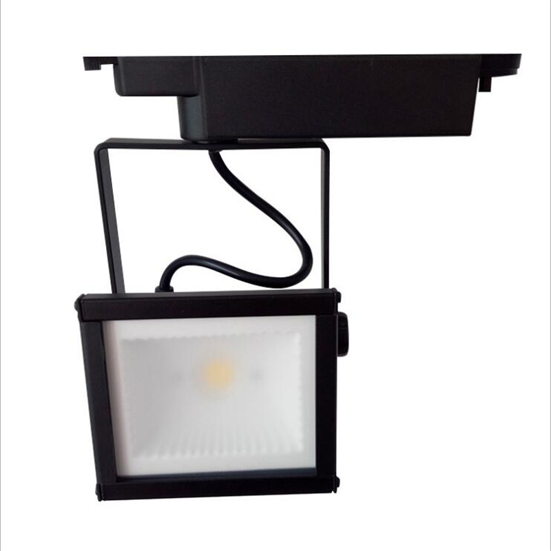 2018 new led track light cob 20w 30w clothing store square track lights led spot lights ac85-265v led light for rail 4pcs/lot hot sale 8pcs lot 20w 30w 40w 50w cob led track light clothing store led rail light high bright ac85 265v free shipping