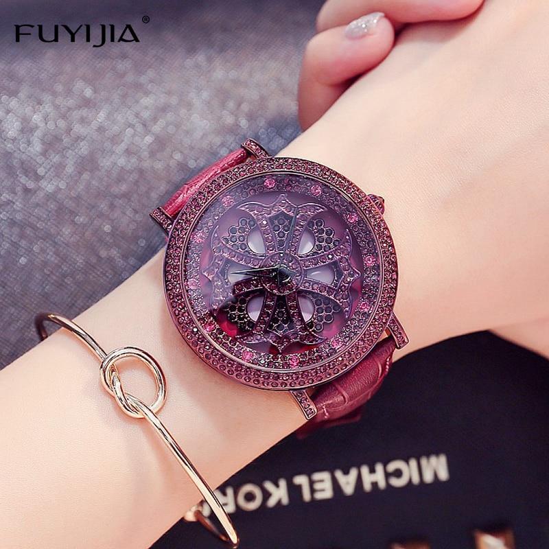 2018 New Women's Watches Ladies Dress Quartz Watch Top Brand Leather Bracelet Rose Gold Watch Lady Planet Star Watch Waterproof цена 2017
