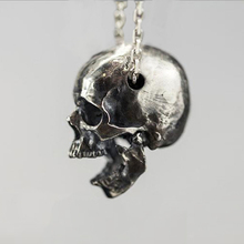 Crâne hommes et femmes pendentif S925 argent Design Original personnalité EDC bricolage pendentif Paracord couteau longes extérieur couteau perles