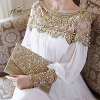 2018 women new fashion elegant vestidos formal korean runway white party long maxi spring summer dress long sleeve autumn