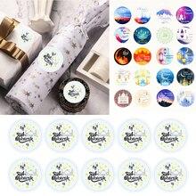 100pcs Ramadan Mubarak Decorations Paper Handmade Sticker Gift Lable Seal Sticker Islamic Muslim Eid al fitr Decoration Supplies