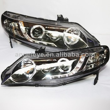 LED Angel Eyes Head Lamp For HONDA for Civic 2006-2011 year
