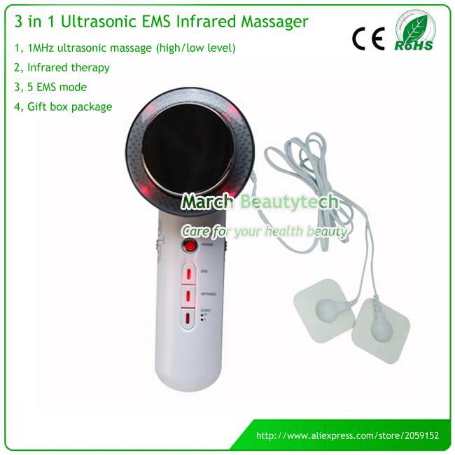 Home Use Fat Removal 3 in 1 Ultrasonic LED Electric EMS Body Massager Skin Beauty Care electric beauty body slimming and lipoid fat massaging massager is powerful vibratory body and slimming machine