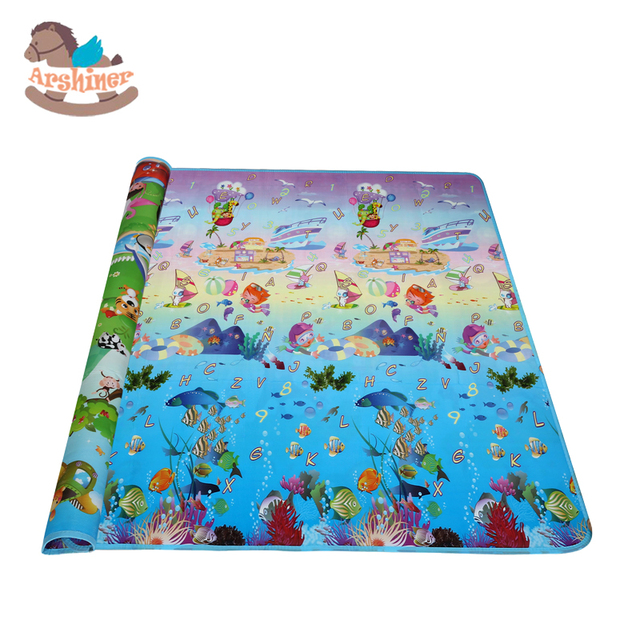 Arshiner Kids Play Mat Picnic Cushion Crawling Educational Toy Activity  Colorful Baby