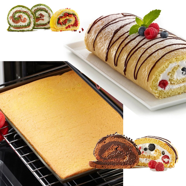 1 piece non-stick silicone oven roll mat cake
