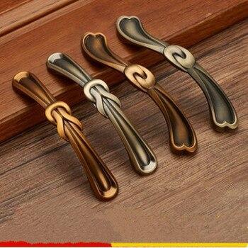 96mm 128mm American retro style kitchen cabinet cupboard door handle antique brass drawer cabinet knob yellow antique brass pull