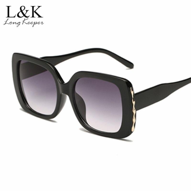 0f6900844f 2018 Luxury Oversized Square Sunglasses Women Men Brand Designer Retro  Frame Sun Glasses Gradient Lens For