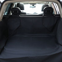 New Design Dual Use Seat Cover Waterproof 600D Oxford Dog Auto Car Trunk Mat Back Seat