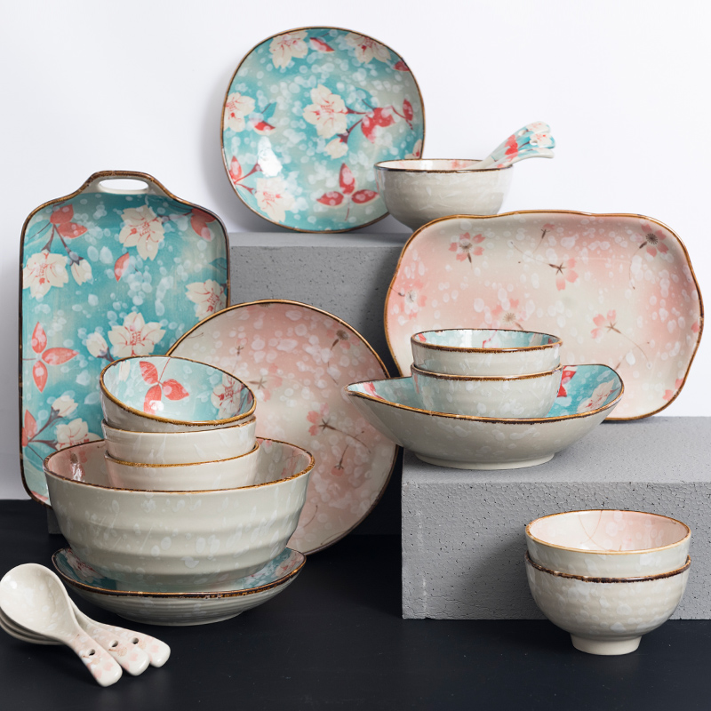 US $230.29 30% OFF 2019 Fashion Dinnerware Sets Ceramic Japanese Home  Dishes Plate Bowl Dishes Sets Bowls Tableware Utensils Kitchen Dinnerware  Set-in ...
