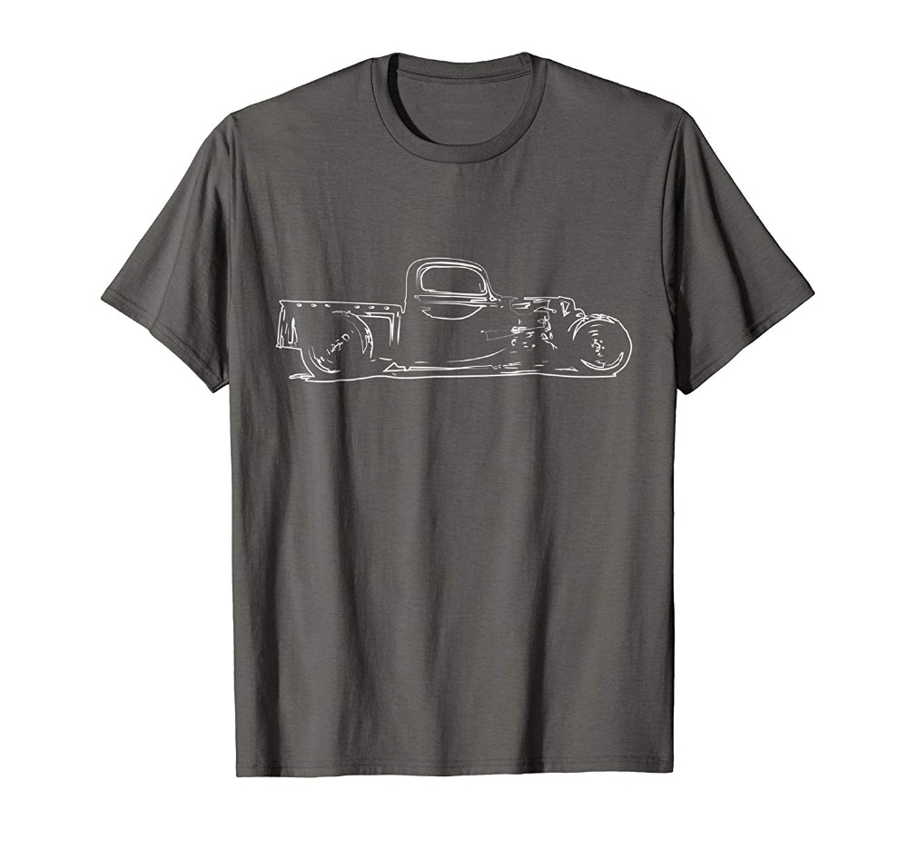 Outline Rat Rod Hot Rod Old School V6 <font><b>V8</b></font> Auto <font><b>Tshirt</b></font> Homme 2018 New Print T Shirt Mens Short Sleeve Hot Band T Shirts image