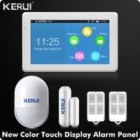 Kerui Newest Arrival WIFI GSM Alarm System 7 Inch TFT Color Display KR K7 Door Open