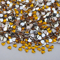 10000PCS 3D gold heart shape Acrylic Nail Art Decorations Flat Back Rhinestones Gems Cell Phone Decoration accessories Wholesale