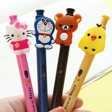 1pcs/Lot Sweet 3D Japan Cartoon doll design ballpoint pen 0.5mm Lovely twig ball pens school office supplies(China)
