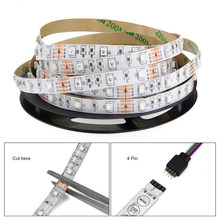 DC12V 5050 RGB LED Light Strip SMD IP20 lamp diode Flexible ribbon Big 4PIN Controller Cool TV background wall wholesale Hot M5(China)