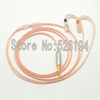Free Shipping 1 2Meter Pieces 5N OFC Copper IE8 IE80 IE8i Upgraded Line Silver Headphone Cable