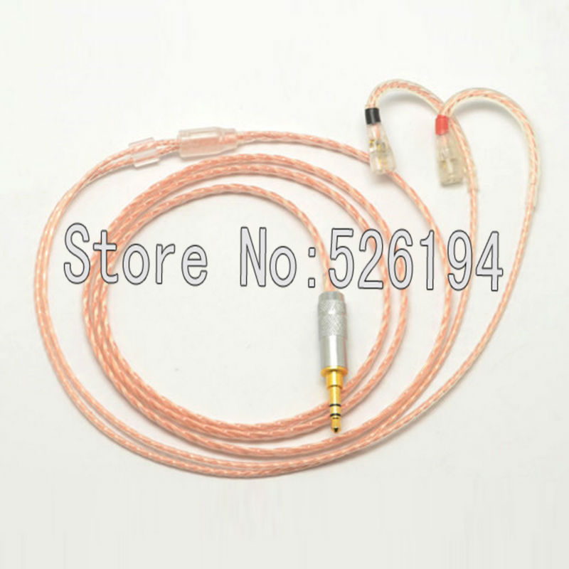 ФОТО Free shipping 1.2Meter/pieces 5N OFC copper IE8 IE80 IE8i upgraded line silver headphone cable audio cable
