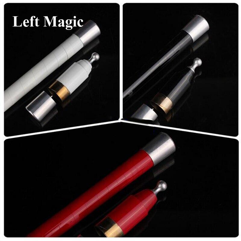 1 pièces astuces de magie de canne à disparaître en métal (3 couleurs) rouge noir blanc rétractable bâtons fermer étape magique accessoires de magie