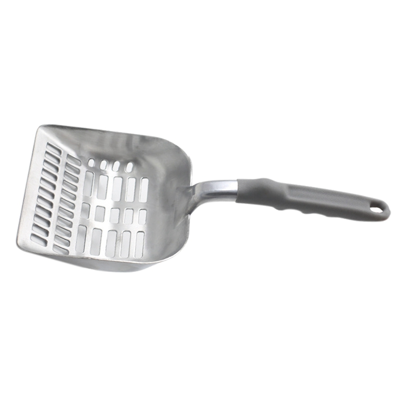 Durable Useful Cat Shovel Pet Cat Stainless Steel Litter Shovel Sieve Round Cat Sand Bath Cleaning Product Cat Highly Efficient in Litter Housebreaking from Home Garden