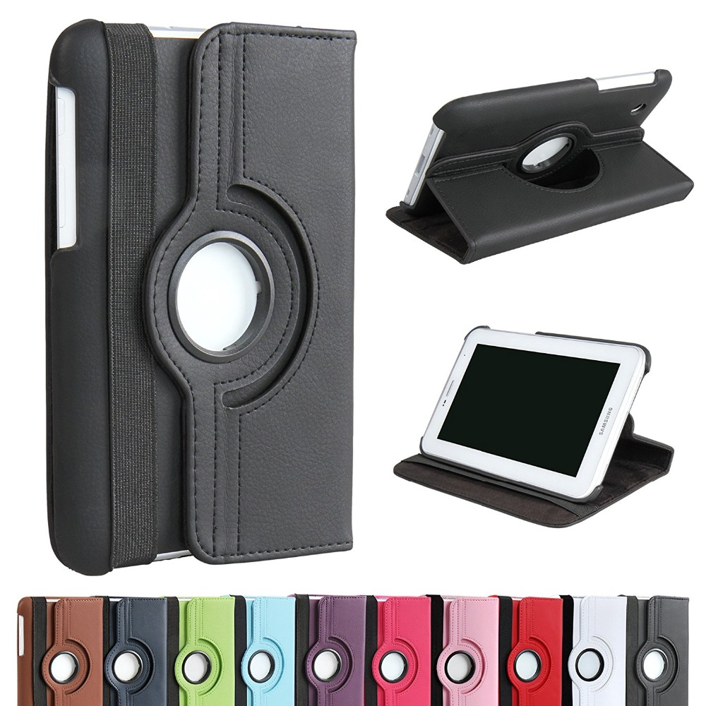 360 Rotation Case For Samsung Galaxy TAB 2 10 1 P5100 P5110 P7500 P7510 PU Leather