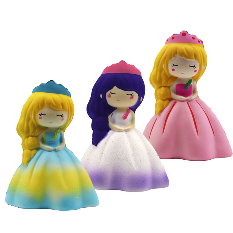 Squishy Antistress Slow Rebound Wedding Girls Sisters Cute Princess Foam Real Life Decompression Toy Stress Reliever Toy GF59