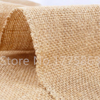 High Quality 30*275cm Burlap Hessian Table Runner ,  Natural Jute Burlap Ribbon For Wedding Party Decoration  AA8065