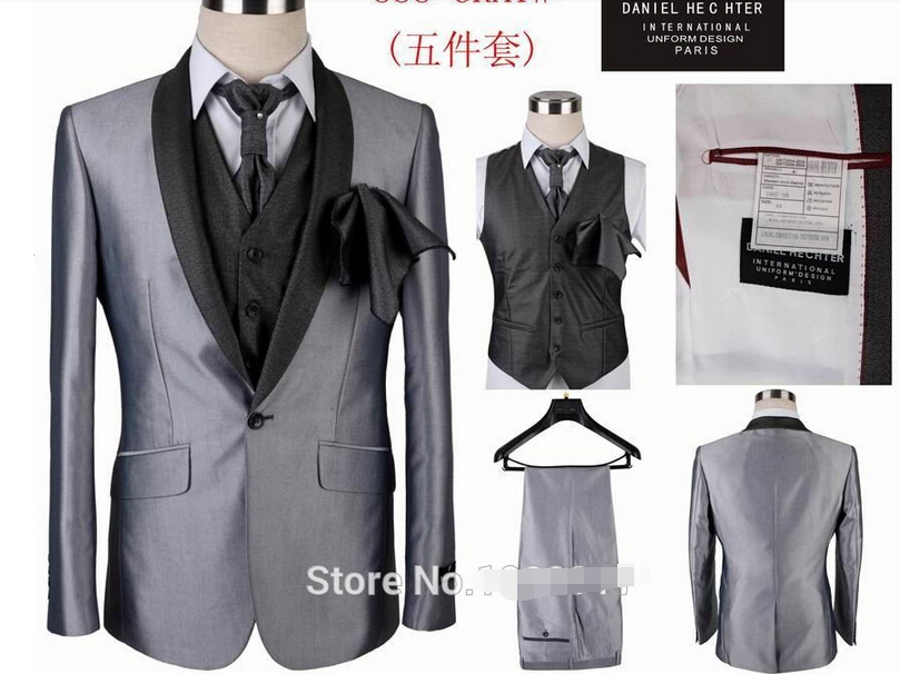 2015 new groom suit 5 pieces men suit, top quality designer formal ...