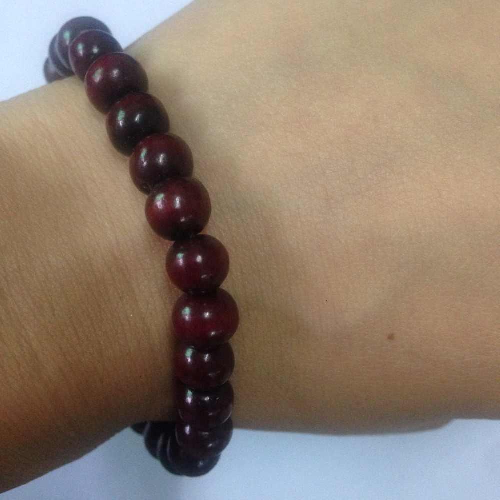 Nova Moda Étnica jóias Bodhi contas Buddha pulseira vintage, Jóias Artesanais Pure accessrioes camadas de sândalo pulseira homem