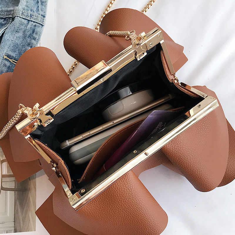 Женская сумка на плечо распродажа волнистые кружева дизайн цепь сумки через плечо для Заколка Для Девочек Пряжка клатч кошелек женский сумка-мессенджер bolsa